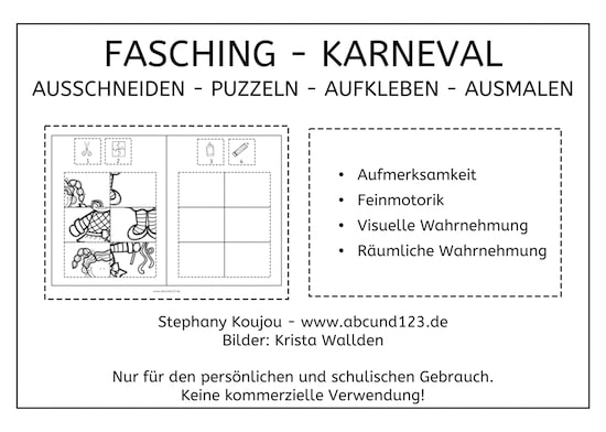 Fasching Karneval Puzzles