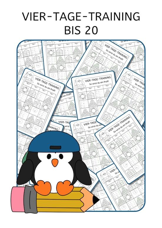 Vier-Tage-Mathe-Training (Zahlenraum bis 20)