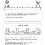 Kurze Lesemaltexte zum Frühling und Ostern