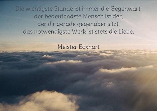 Zitat, Download, Die wichtigste Stunde, Meister Eckhart, Unsplash, Made with Unsplash