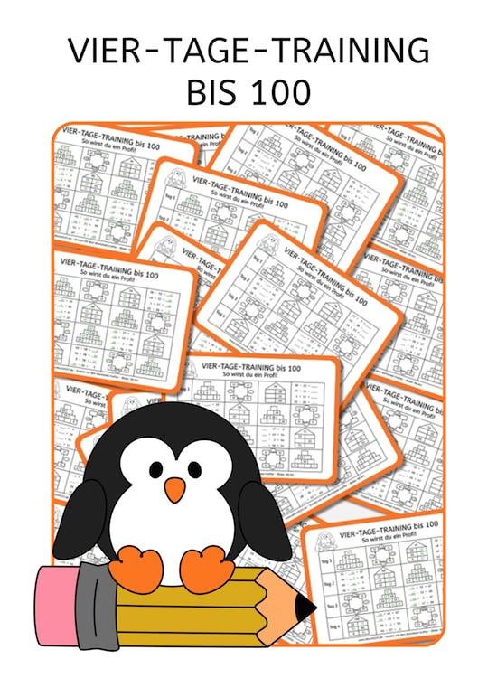 Vier-Tage-Mathe-Training, Zahlenraum bis 100, Arbeitsblatt Mathe bis 100, Dyskalkulie, Dyskalkulietraining, AFS-Methode, Stephany Koujou, Koujou, Arbeitsblatt, kostenlos, Grundschule, Förderschule, rechnen, Mathe, Download, Mathe