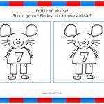 Fröhliche Mäuse (Unterschiede erkennen)