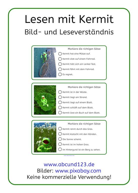 Lesen mit Kermit, lesen, Lesematerial, Download, Grundschule, Förderschule, Aufmerksamkeit, AFS-Methode, Legasthenie, lesen, LRS, Leseförderung