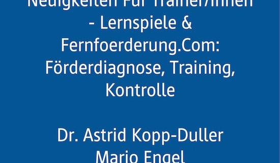 Fachtagung, AFS-Methode, Legasthenie, Dyskalkulie, Vortrag, Lernspiele, Fernfoerderung.com, Förderdiagnose, Training