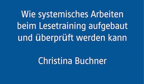 Fachtagung, AFS-Methode, Legasthenie, lesen, Eltern, Christina Buchner, Vortrag