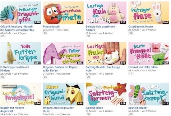 Bastelvideos, Video, basteln, kreativ, Eltern, Kinder