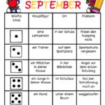 Würfeln und schreiben im September