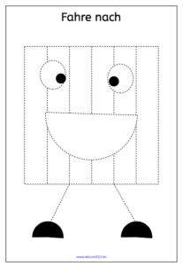 Lustige geometrische Figuren zum Nachfahren, nachfahren, Download, Legasthenie, Legasthenietraining, Dyskalkulie, Dyskalkulietraining, AFS-Methode, Feinmotorik