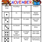 Würfeln und schreiben im November