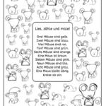 Lesezählmalblatt: Mäuse