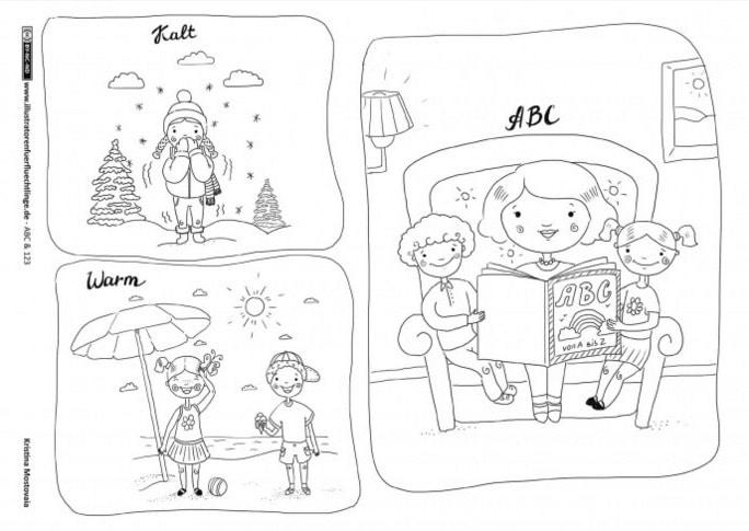 Illustratoren für Flüchtlinge, DAF, DAZ, Deutsch lernen, Legasthenie, Legasthenietraining