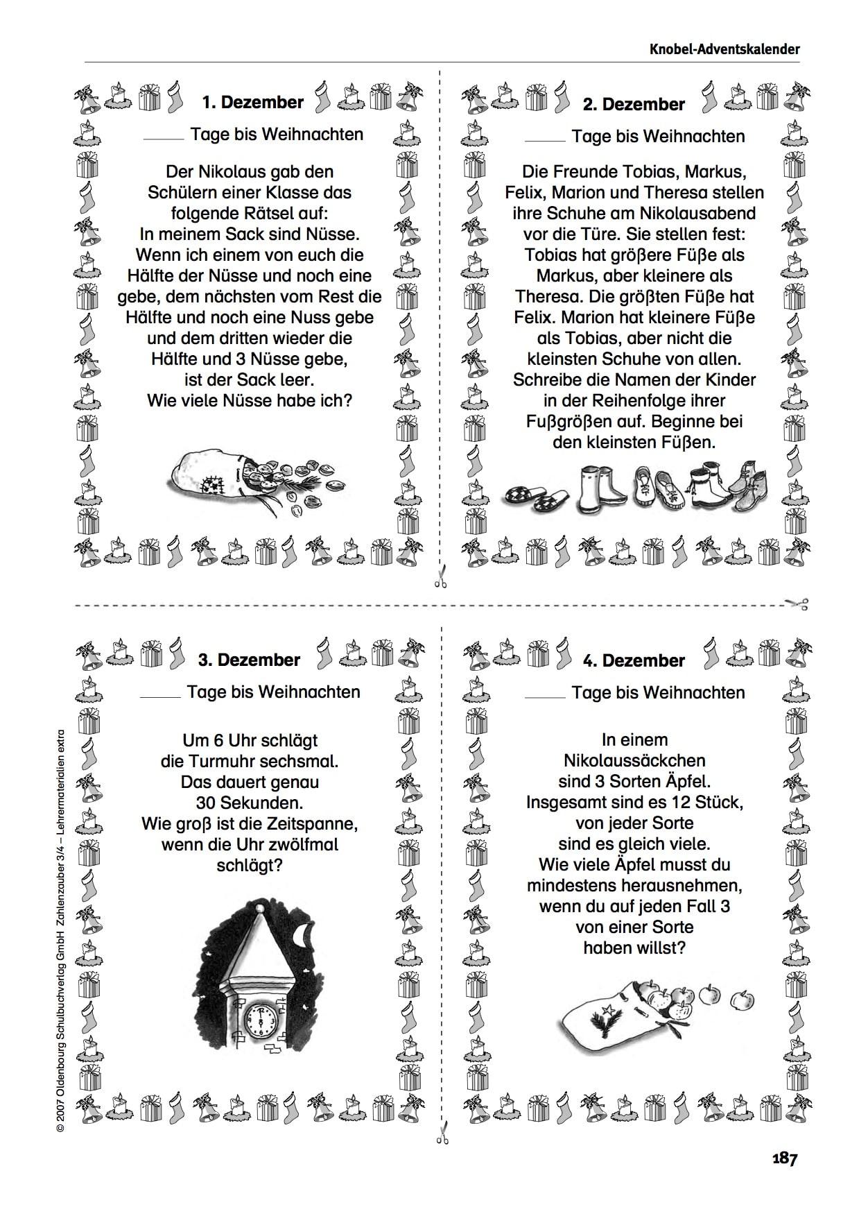 Knobeladventskalender
