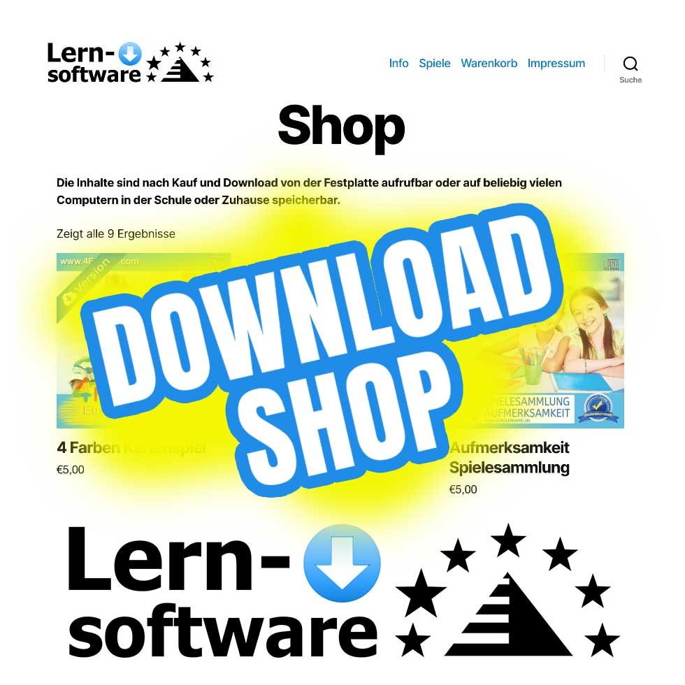 Lernsoftware Shop