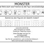 Monster – Figuren vervollständigen